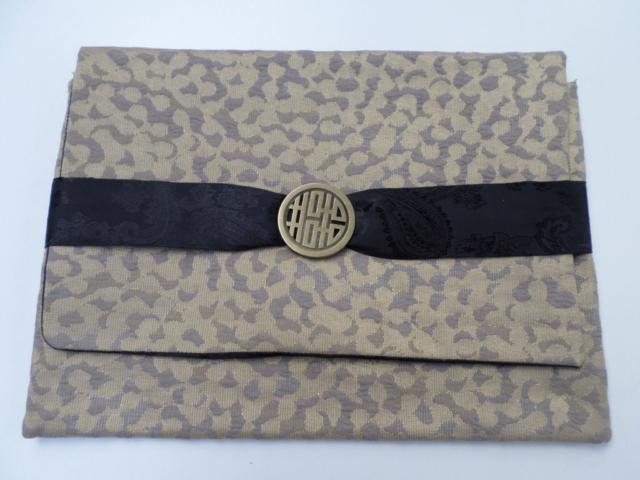 fait main - modèle unique - tissu d'ameublement intérieur et bandeau en satin noir